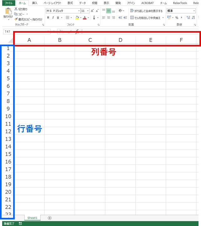 Excel(エクセル)列番号の数字を確認する方法 - My タックスノ ...