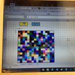 Excel VBA アニメーション、Rnd 関数を使ってセルの色を変えてキラキラさせる