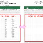 Excel VBA(マクロ)を使って Excelシートの内容を CSV ファイルにコピペする方法