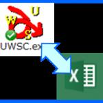 UWSC で Excel(エクセル)を操作、インプットボックスに入力した文字・数字をセルに表示させる