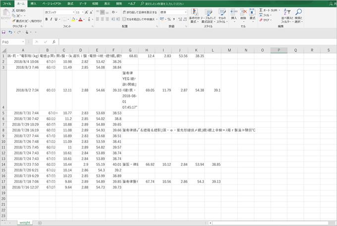 CSV データ出力手順5