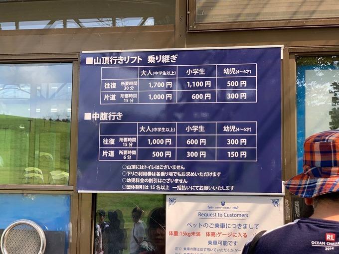 車山高原リフト料金
