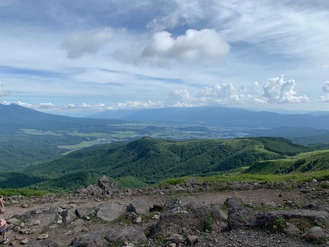 車山高原山頂からの眺め